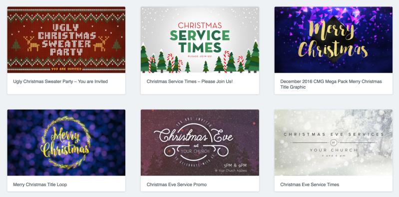 church media drop - christmas